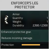 Enforcer's Leg Protector