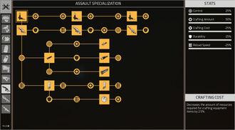 Complete Assault Specialization Skilltree