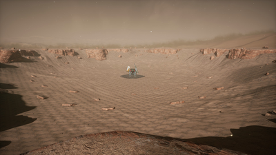 Behemoth in crater