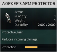 Worker's Arm Protector