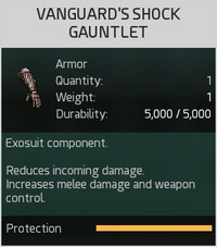 Vanguard's Shock Gauntlet