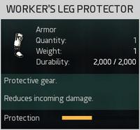 Worker's Leg Protector