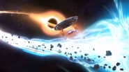 USS Cerritos escapes a black hole