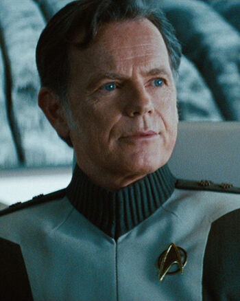 "Admiral Christopher Pike in <a href=""/wiki/2259"" title=""2259"">2259</a>"