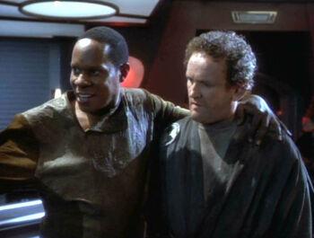 """Benjamin Sisko with """"Smiley"""""""
