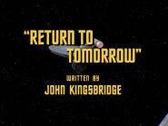 2x22 Return to Tomorrow title card