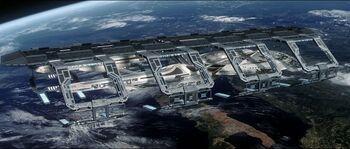 USS Enterprise-E in spacedock