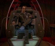 Dukat in Groumall's command chair