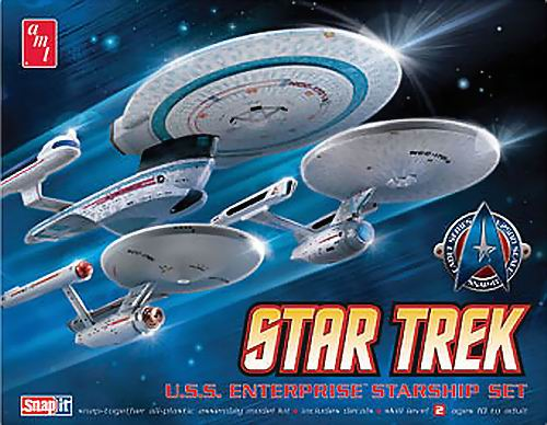 AMT Model kit AMT660 3-piece USS Enterprise Set 2010.jpg