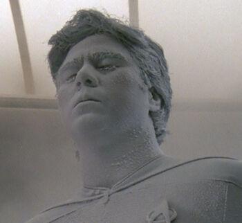 Lt. Torres frozen by Q