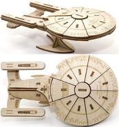 IncrediBuilds USS Enterprise-D 3D Wood Model