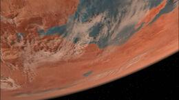 Вулкан, вид с орбиты