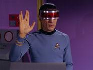Spock greets Kollos and Miranda Jones