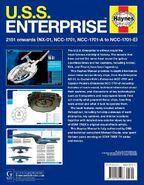 USS Enterprise Owners Workshop Manual back cover (US)