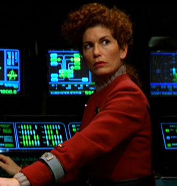 ...as Enterprise-B science officer