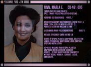 Marla Finn's personnel file