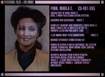 Finn's personnel file
