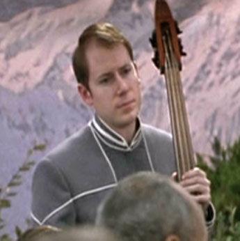 ...as a wedding bass player