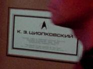SS Tsiolkovsky NCC-53911 dedication plaque
