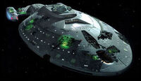 Voyager met Borg technologie