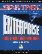 Enterprise - The First Adventure, audiobook cover, 1996 UK cassette edition
