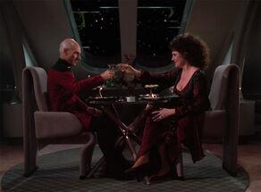 Picard and Lwaxana Troi