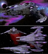 Jem'Hadar battleship CGI model
