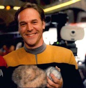 "Randy James on the set of ""Trials and Tribble-ations"""