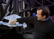 Intrepid-class studio model shuttlebay closed by Dan Curry