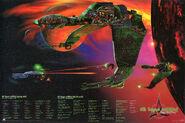 Klingon Bird of Prey cutaway poster