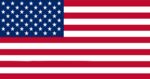 The flag of the United States of America with 52 stars as it was used from 2033 until 2079