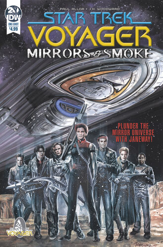 Cover of Star Trek: Voyager: Mirrors and Smoke