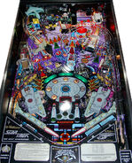 Williams Star Trek TNG pinball playfield