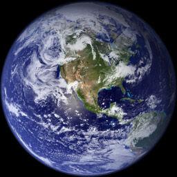 Ziemia widziana z kosmosu.