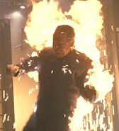 Enterprise NX-01 crewman on fire