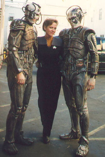 Borg with the two Borg actors Patrick Barnitt and Louis Ortiz