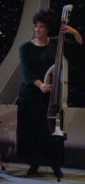 An electric double bass