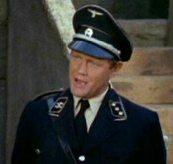 ...as an Ekosian Gestapo lieutenant.
