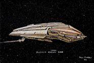 Kazon carrier vessel design by Dan Curry