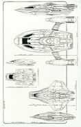 Scout ship scale dimensions by John Eaves
