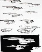 Galaxy class USS Enterprise-D November 1986 design process