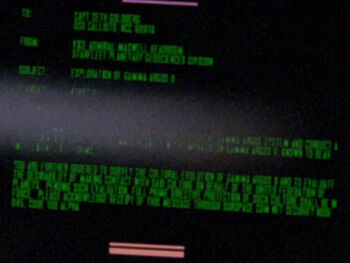 Starfleet Command order received by the USS Callisto in 2364
