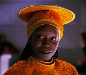 Guinan in Ten Forward (2365)
