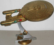 Playmates USS Enterprise-D Gold