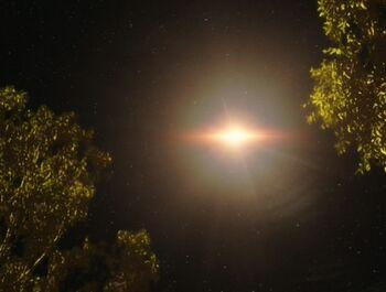 The Gander burns up in Goralis III's atmosphere