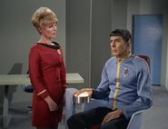 Shaw questions Spock