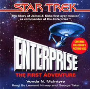 Enterprise - The First Adventure audiobook cover, CD edition
