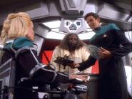 Bashir and Melora at Klingon restaurant