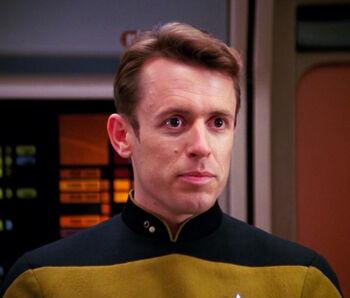 Lieutenant Duffy in 2366