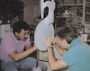 USS Enterprise 2-foot model worked on by Larry Tan and Bill George